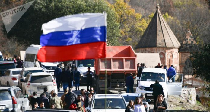 Leaders of Russia, Armenia, Azerbaijan Sign Statement on Development of Karabakh, Putin Says