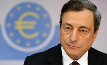 The European Central Bank (ECB) president Mario Draghi