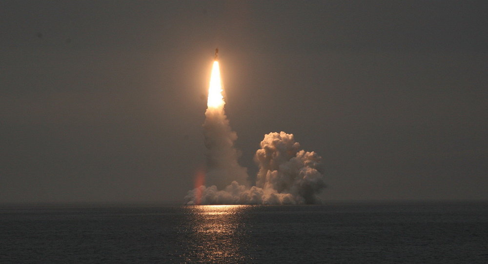 Launch of a Bulava SLBM