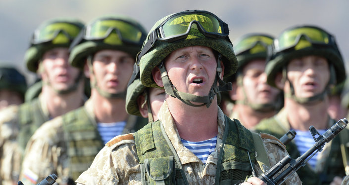 Army servicemen of the 31st Individual Assault Brigade at the joint exercises of the CSTO Collective Rapid Reaction Force
