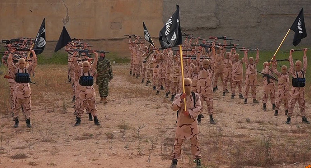 A Daesh training camp in northern Iraq