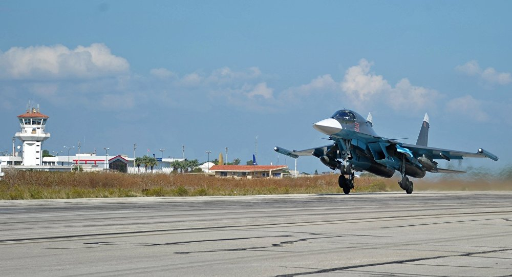 Russian warplanes at Hmeymim Airbase, Syria