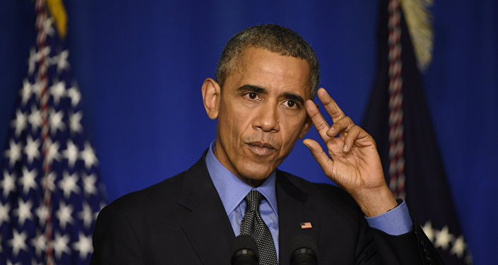 US president Barack Obama speaks during a press conference on December 1, 2015 at the Organisation for Economic Co-operation and Development (OECD) in Paris