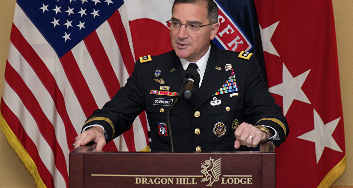 Gen. Curtis M. Scaparrotti, United Nations Command, Combined Forces Command, United States Forces Korea commander, recognizes the dedication and hard work put forth by the ROK and U.S. civilians of United States Forces Korea during the Civilian of the Year awards ceremony at the Dragon Hill Lodge on United States Army Garrison Yongsan, South Korea