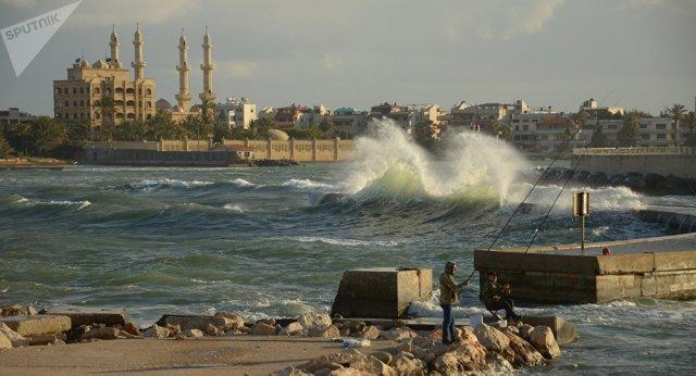 Mediterranean sea coast outside Latakia