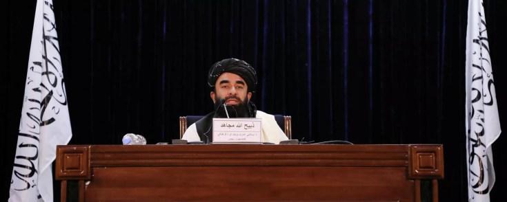 Taliban spokesman Zabihullah Mujahid speaks during a news conference in Kabul, Afghanistan September 6, 2021. REUTERS/Stringer - Sputnik International, 1920, 09.09.2021