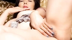 Horny Asian Beauty Is Excitingly Fondling Herself And Masturbating