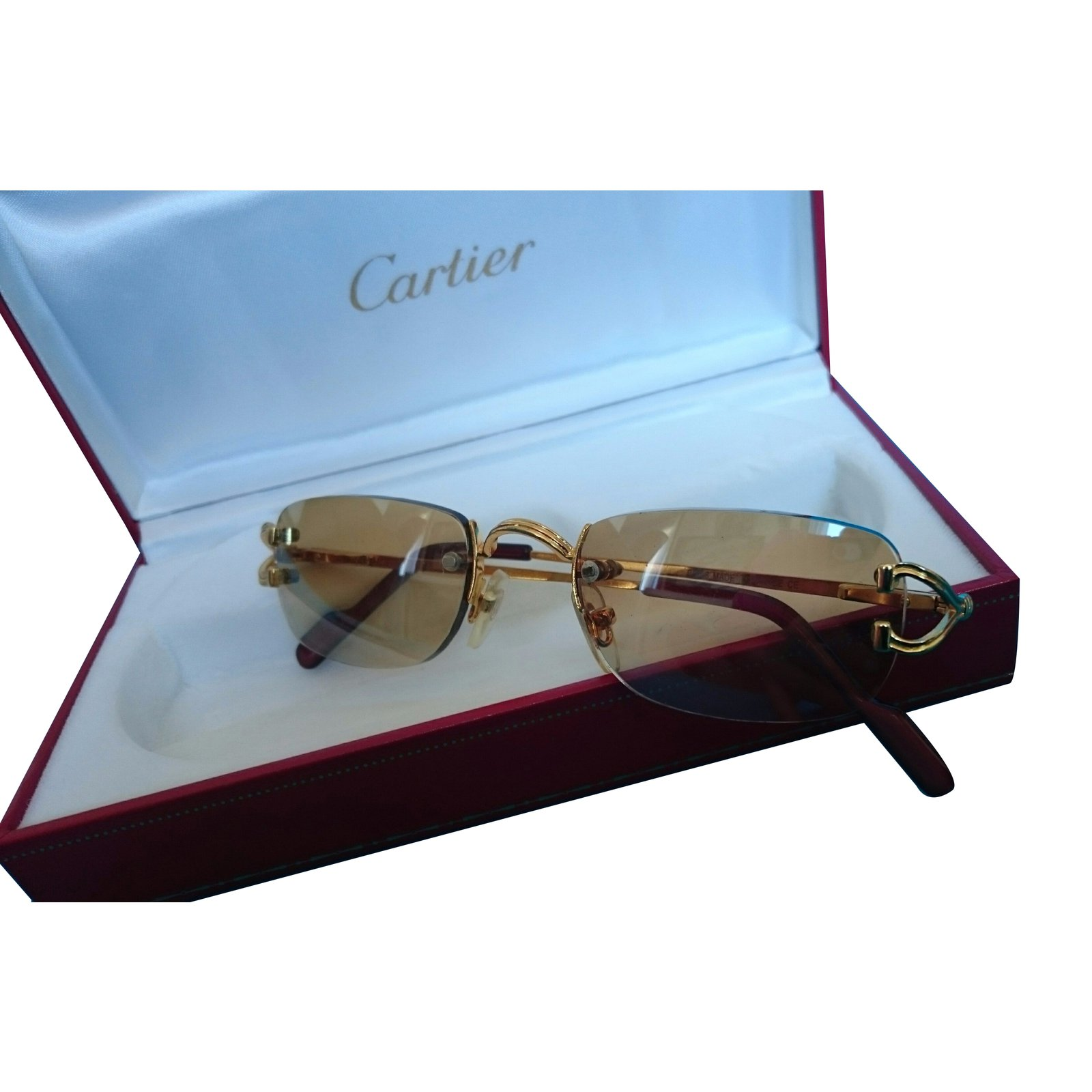 Cartier Sunglasses Sunglasses Gold plated Golden ref 24273   Joli Closet Cartier Sunglasses Sunglasses Gold plated Golden ref 24273