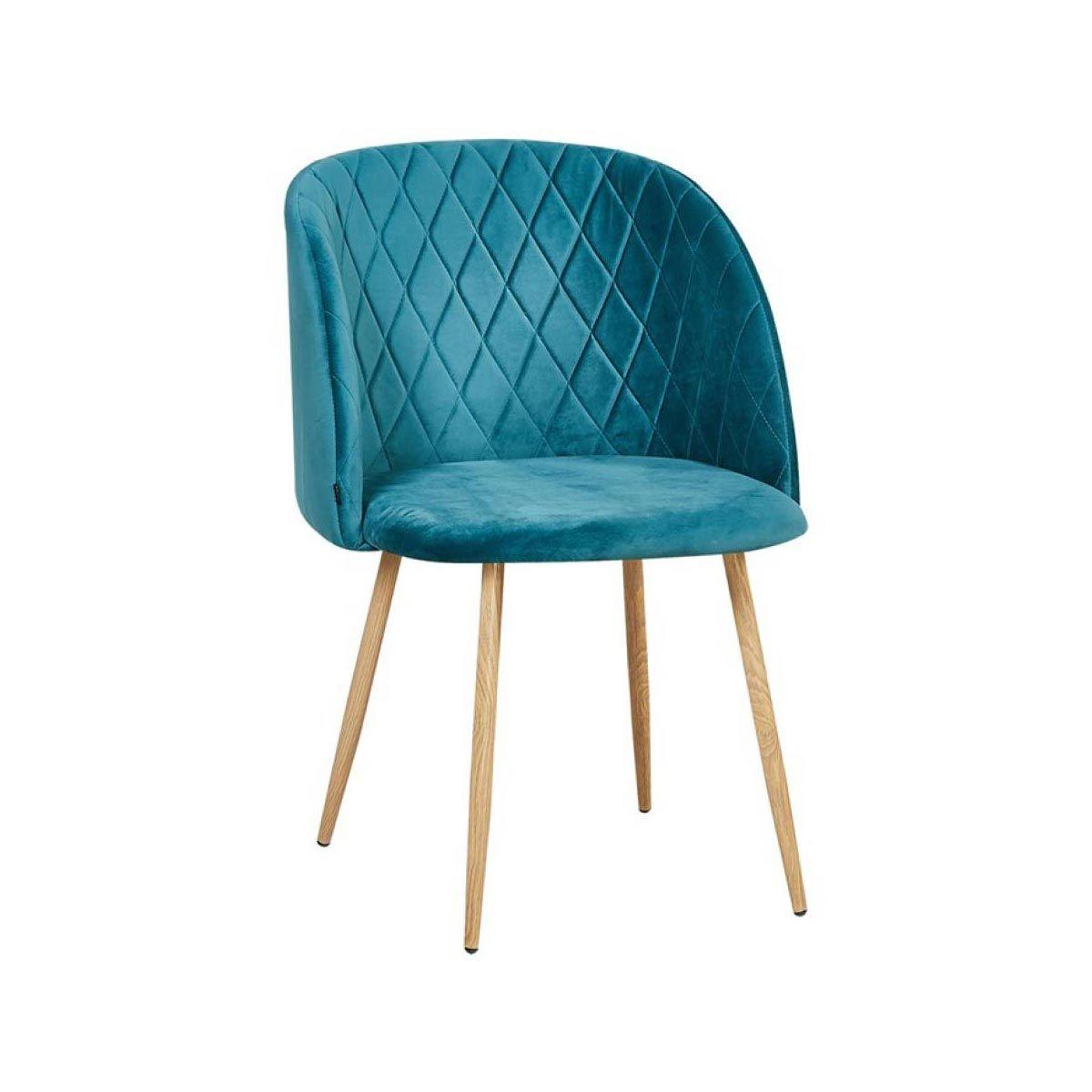 fauteuil de table makro bleu canard