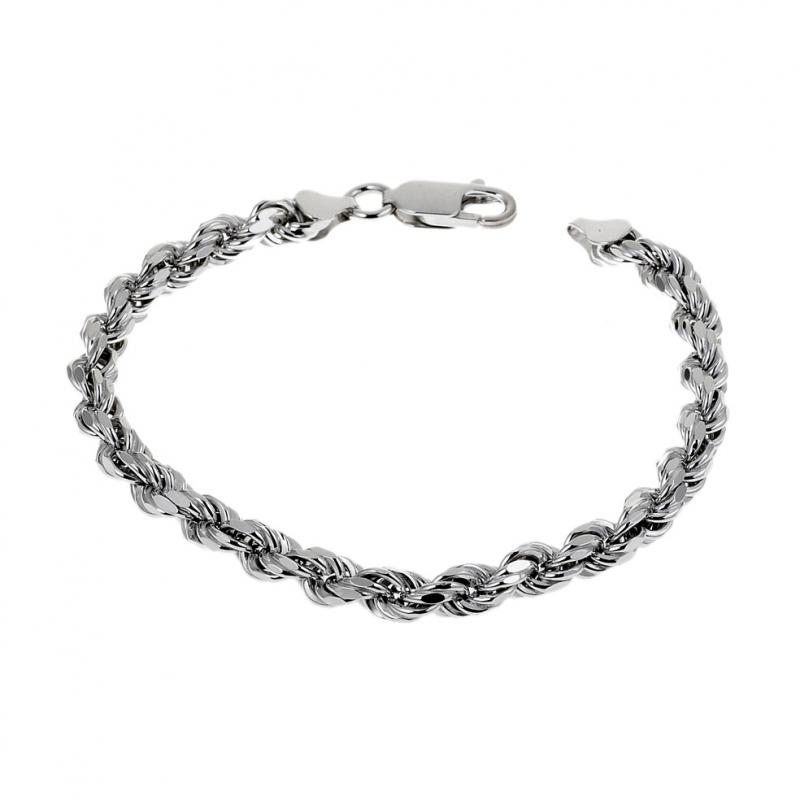 Bracelet Noir Et Argent Femme