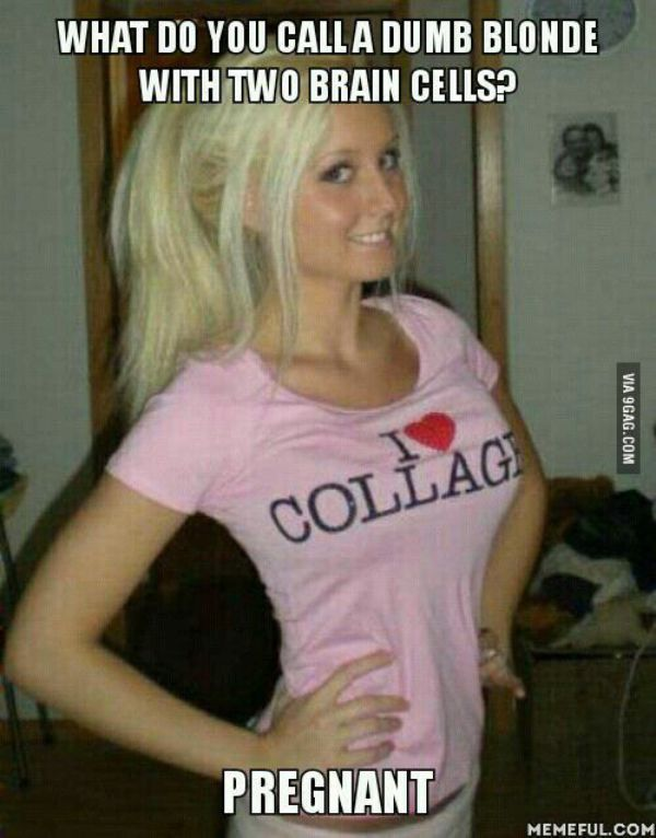 Blonde Jokes White Out