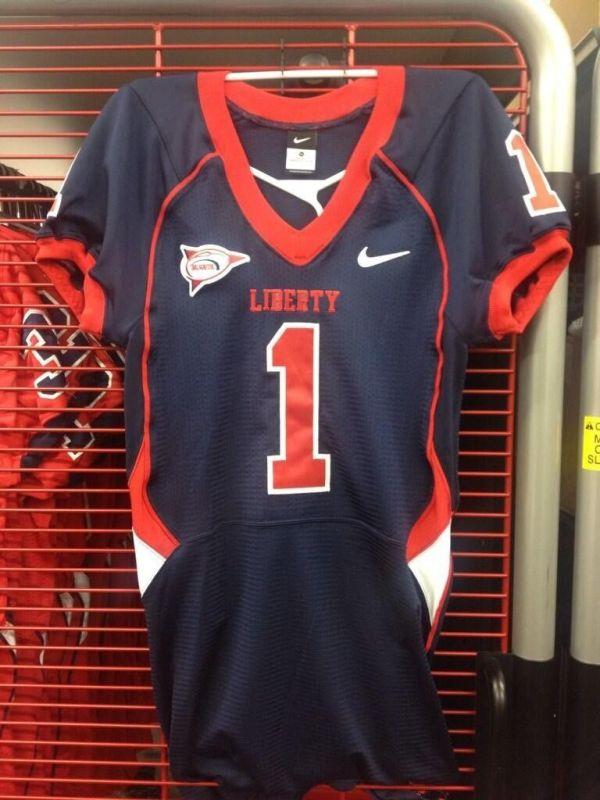 Liberty University new navy Nike football uniforms.