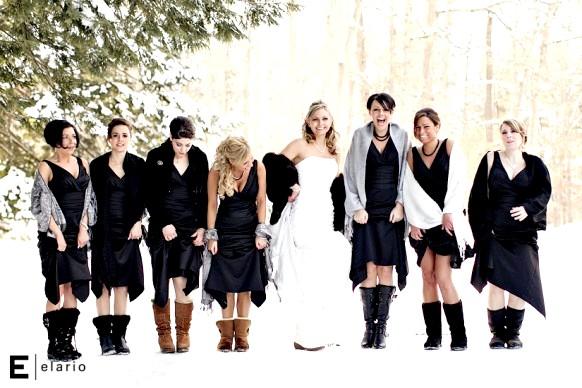 обувь невесты на зимней свадьбе