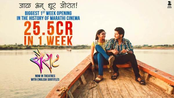 Sairat breaks first week box office records! - Movie ...