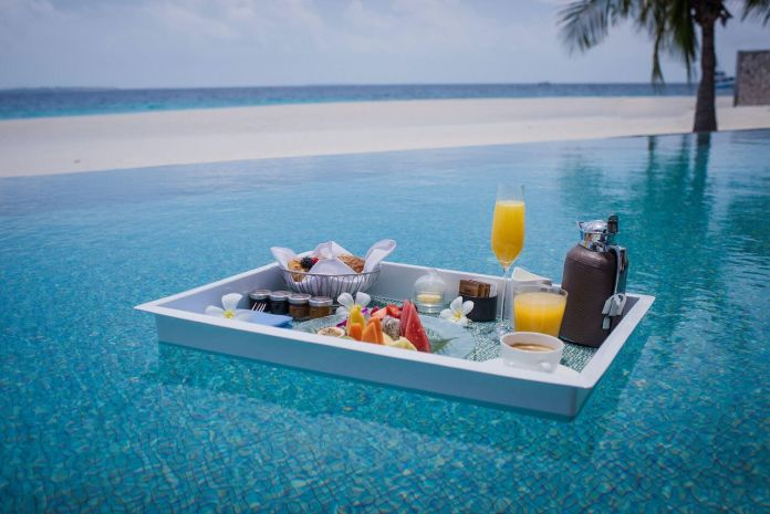 The Four Seasons, Maldives, floating breakfasts