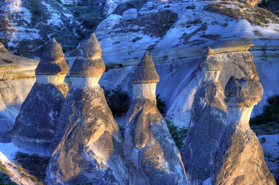 Fairy chimneys in Cappadocia