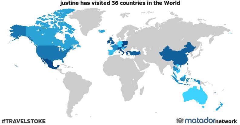 justine's Travel Map