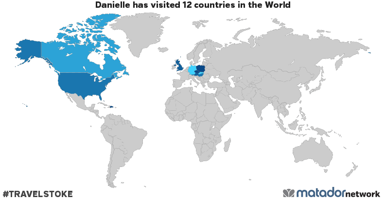 Danielle's Travel Map
