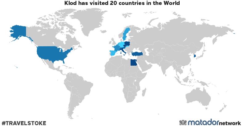Klod's Travel Map