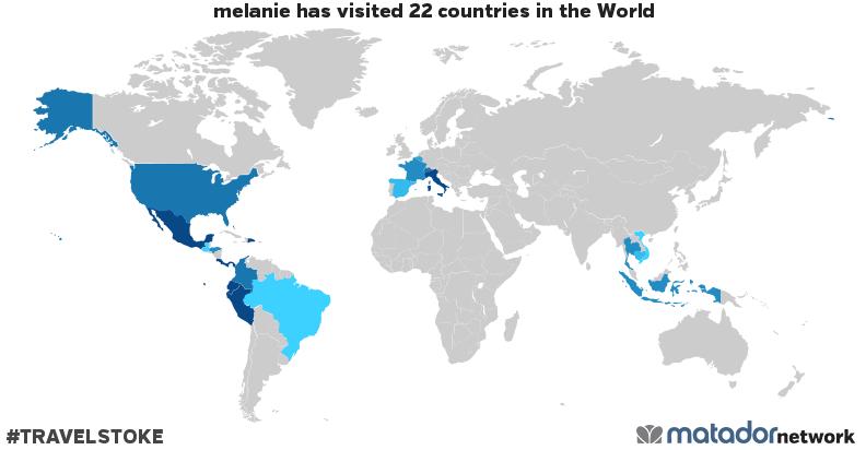melanie's Travel Map