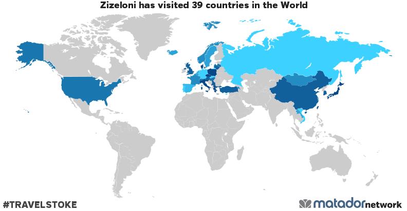 Zizeloni's Travel Map