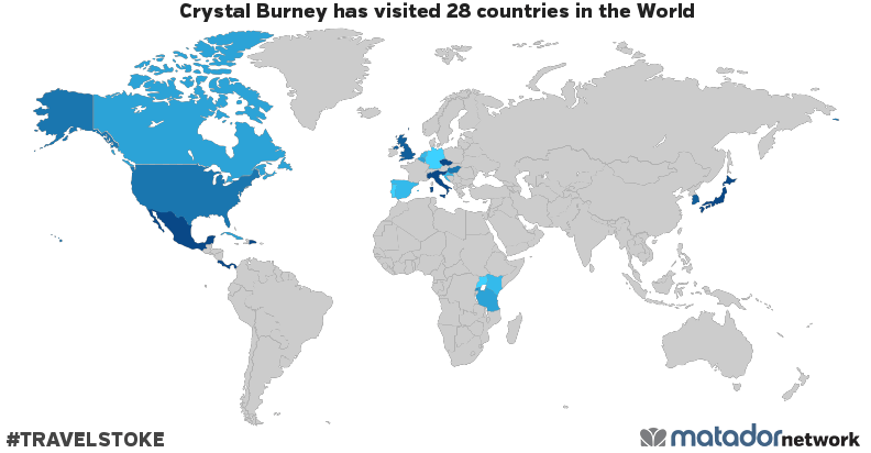 Crystal Burney's Travel Map