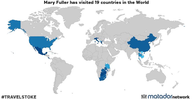 Mary Fuller's Travel Map
