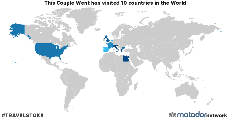 This Couple Went's Travel Map