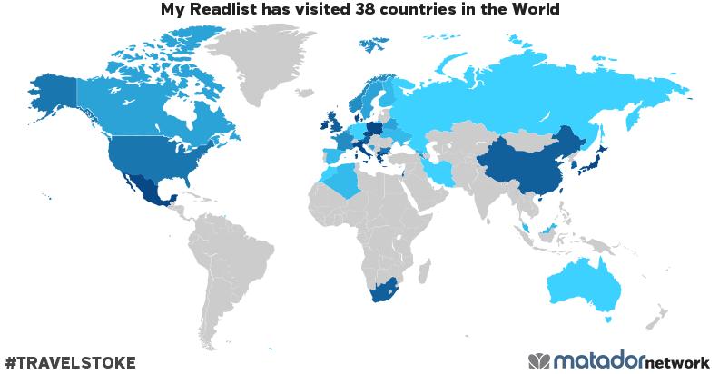 My Readlist's Travel Map