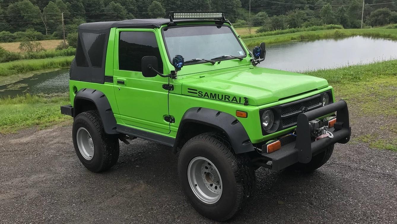Green Teal Suzuki Samurai