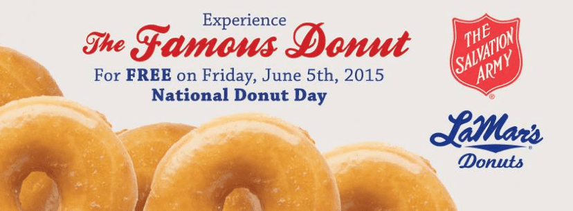 Get a free doughnut at Lamar's on June 5, 2015