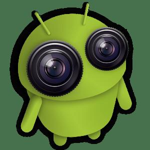 android con ojos camaras