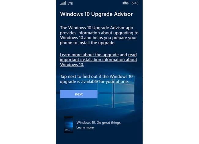 Windows 10 Mobile app