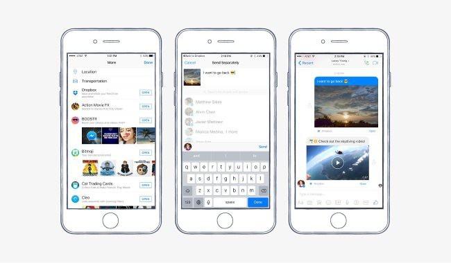 Dropbox integrado en Facebook Messenger