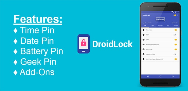DroidLock App Dynamic PIN