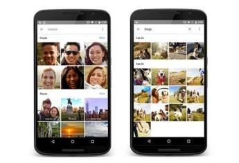 Interfaz de Google Fotos