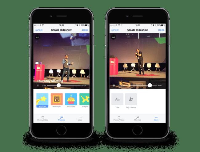 Función slideshow y filtros