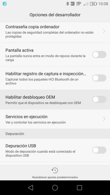 Desbloqueo OEM Huawei G8
