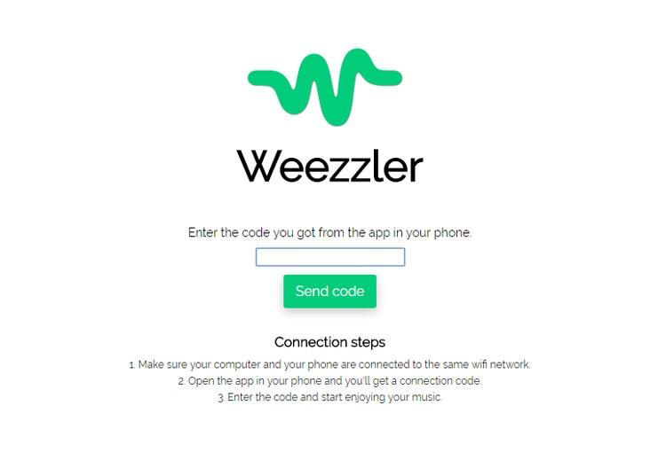 Versión web de Weezzler para PC