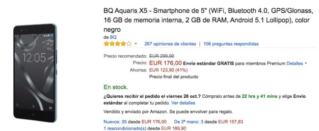 bq aquaris x5 amazon