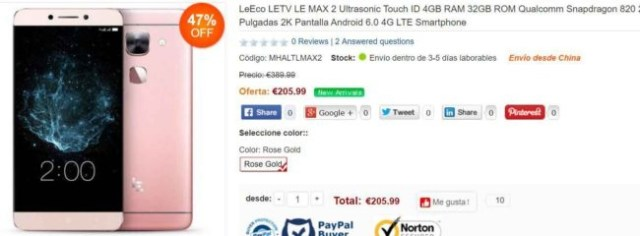 Móviles en el Black Friday LeEco Le Max 2