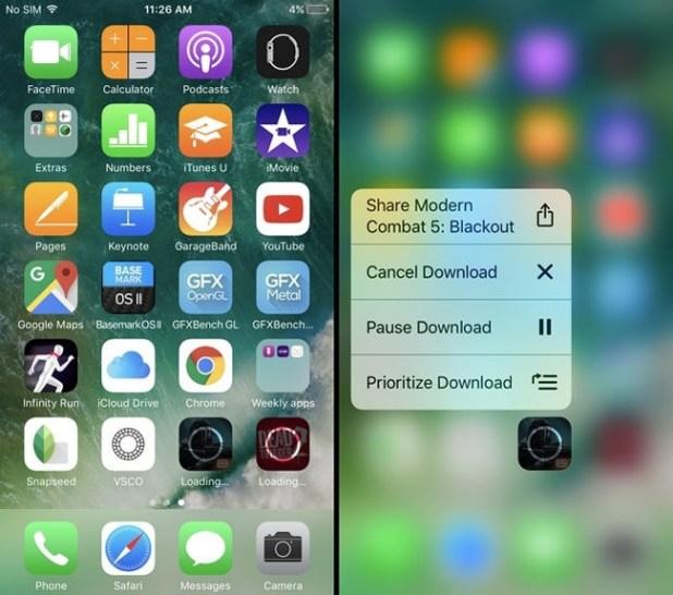 Función 3D Touch en iPhone para priorizar la actualización de aplicaciones en iOS