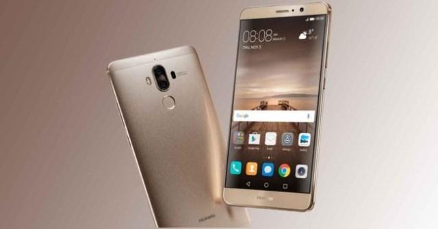 Huawei Mate nueve dorado