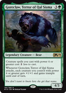 Image result for goreclaw, terror of qal sisma mtggoldfish