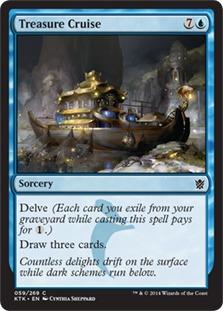 Image result for treasure cruise mtggoldfish