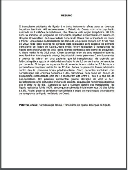 Resumo na língua vernácula regras ABNT 2016 (Foto: Divulgação)