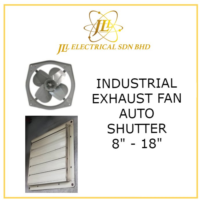 industrial exhaust fan auto shutter
