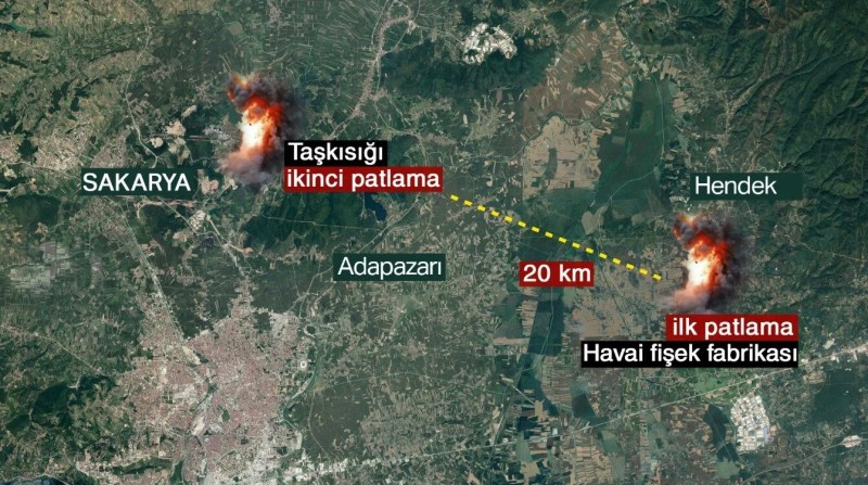 Two explosions occurred six days apart in Sakarya.