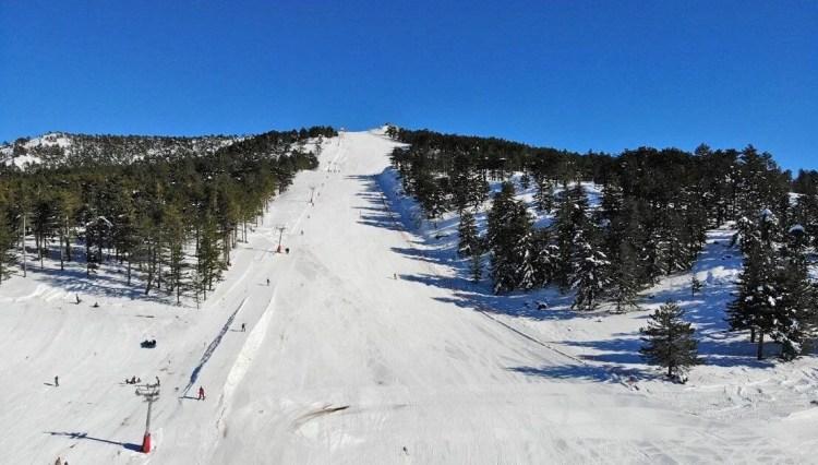 Kayak ile termali buluşturan yer: Murat Dağı