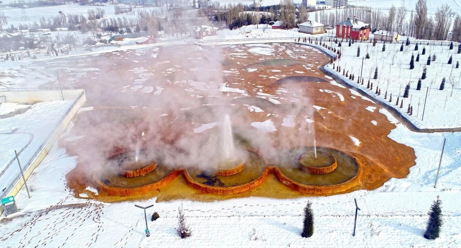 'Sivas'ın Pamukkale'si' Altınkale'de kar güzelliği - 2